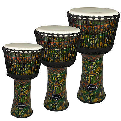 Djmebe Drum by World Rhythm -  Synthetic, Green, African Style