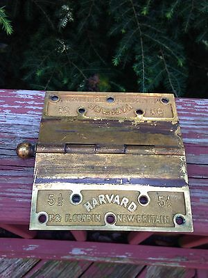 "P&F Corbin 5 1/2"" Harvard Brass / Bronze Heavy Duty Hinges"