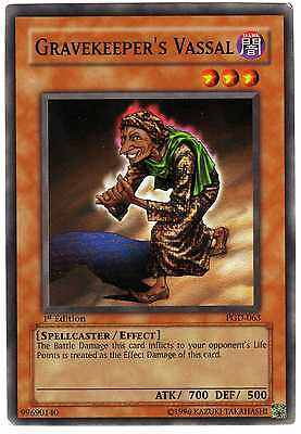 Gravekeeper's Vassal PGD-063 carte Yu-Gi-Oh! 1st FIRST EDITION English Card