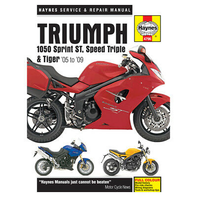 Triumph 1050 Sprint ST 05-09 Haynes Workshop Service Repair Manual 4796