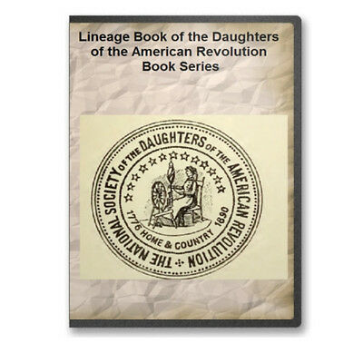 Lineage Book of the Daughters of the American Revolution 67 Volumes on DVD A733