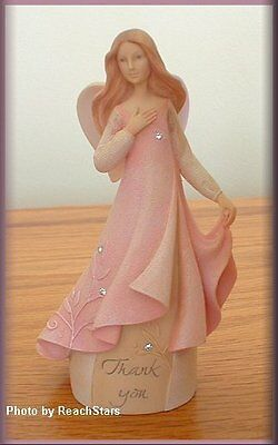 Thank You Mini Angel By Enesco Foundations 4.25 Inches High Free U.s. Shipping