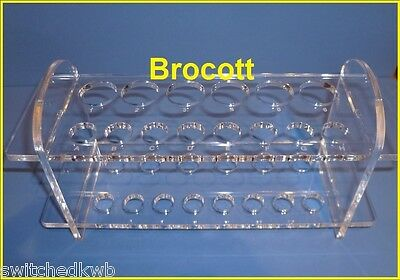 Perspex Test Tube Rack Acrylic Stand, With 14 Optional Test Tubes & Stoppers