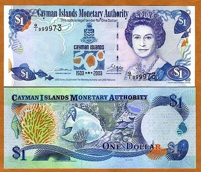 Cayman Islands, $1, 2003, P-30, QEII, UNC   Commemorative