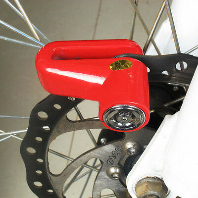 Anti-theft Disk Safety Brake Rotor Lock for Scooter Bike Bicycle Motorcycle Red