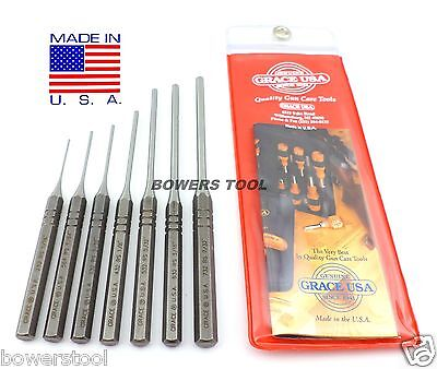 Grace Gunsmith Roll Spring Pin Punch Set 7pc Gun Care Machinist Made in USA