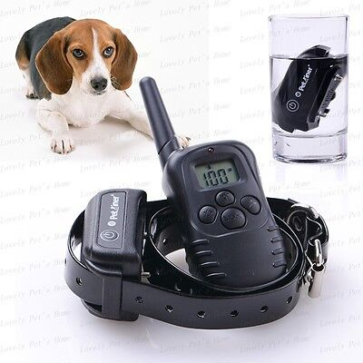 300 Yard Waterproof Rechargeable Remote Pet Dog Training Shock Vibration Collar