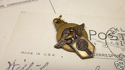 Vintage Religious Catholic Pendant Charm Recognition Award Medal by JOSTENS