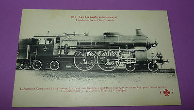 Postcard Cpa Locomotive Train Deutschland Baviere J.a Maffeï Munich