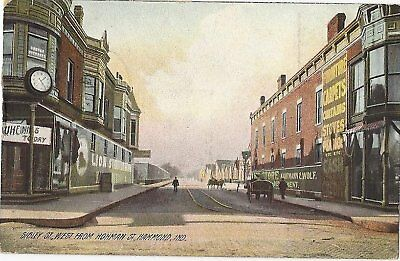 Indiana, IN, Hammond, Sibley ST W from  Hohman ST 1907 Postcard