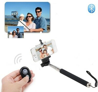 Bluetooth Selfie Shutter+Handheld Monopod Holder for iPhone 5s/5c Android S4/S5