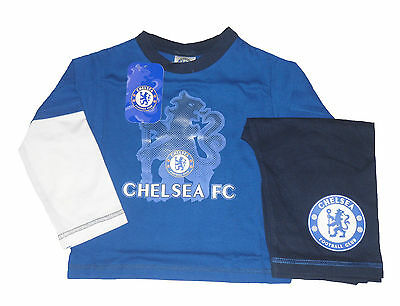 Baby Boys Pyjamas Official Chelsea 12-18 Months Blue & White