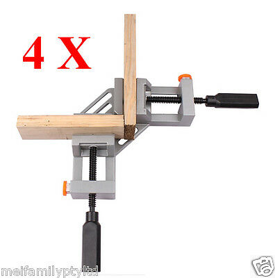 4 x 90°Corner Clamp, Quick Release Button,Picture Frame Woodworking Welding Vice