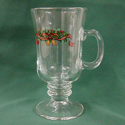 Johnson Brothers VICTORIAN CHRISTMAS Irish Coffee Mug Glass More Items Available