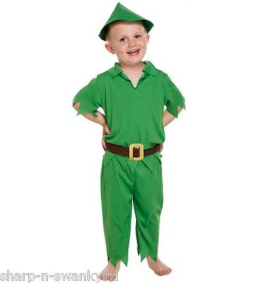 Boys Kids Child's Peter Pan Book Day Week Fancy Dress Costume Outfit Age 3 years