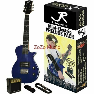 New J Reynolds Jrpklpsbl Kids 1/2 Size Electric Guitar Starter Pack, Blue Sparkl