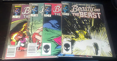 BEAUTY AND THE BEAST FULL SET 1-4(9.2)(NM-)4 ISSUES-MARVEL