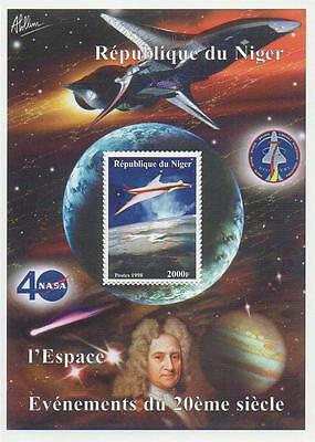 EVENTS OF THE 20th CENTURY NASA SPACE TRAVEL 1998 MNH STAMP SHEETLET