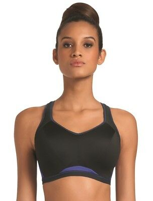 NWT FREYA ACTIVE Epic Crop Top Sports Bra Electric Black AA