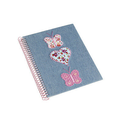 10 x Job Lot Girls Denim Butterfly Notebooks Gift Party Bag NB-7545 By Katz