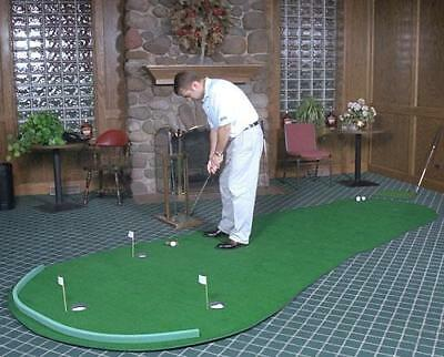 NEW Big Moss Golf THE GENERAL 6' X 12' Practice Putting Chipping Green w/ 3 Cups