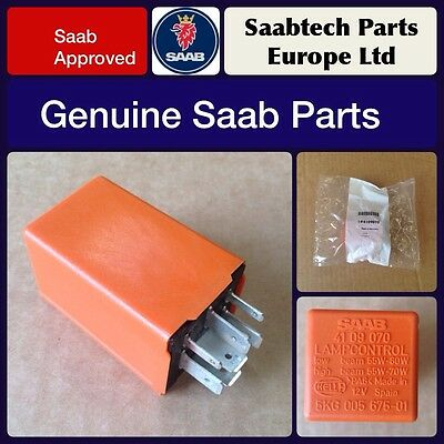 Genuine Saab 900 9000 9-3 9-5 Orange Headlamp Relay - Brand New - 4109070