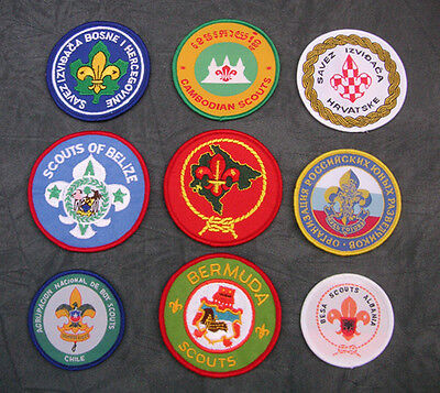 World Scouting - National / Association Membership Scout Badge Patch -Choice # E