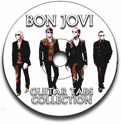 Bon Jovi Rock Guitar Tabs Tablature Song Book Anthology Tuition Software Cd