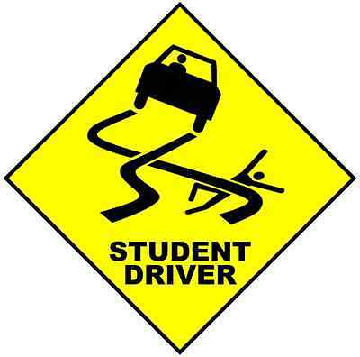 "Student Driver Car Bumper Window Sticker Decal 5""X5"""