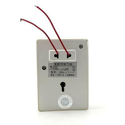 220V 50HZ Wired Doorbell Electric Security Jingle Bell Melodious Ring Door Chime