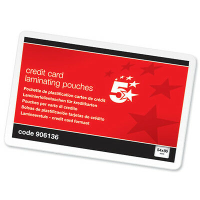 400 ID CREDIT CARD LAMINATING POUCHES 54X86mm 906136