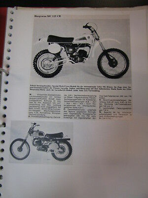 Clipping / artikel / photos Husqvarna 125 / 250  (jaren 70 / 80 GER/NED)