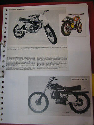 Clipping / artikel / photo Husqvarna 125 / 250 / 360 / 390 (jaren 70/80 GER/NED)