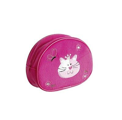 10 x Job Lot Girls Pink Fur Cat Make Up Bag Party Bag Gifts MC-7556 By Katz