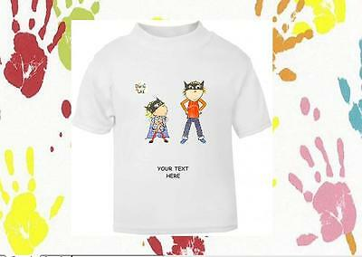Baby Girls Boys Children's Personalised Charlie And Lola T-Shirt 100% Cotton