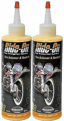 Ride-On TPS Tire Sealant Balancing System / Flat Fix 2 x 8 oz Harley Metric Moto