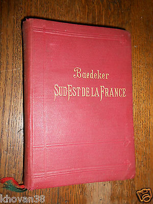 Guide Baedeker 1901  Sud - Est de la France  Percaline in 12 + cartes