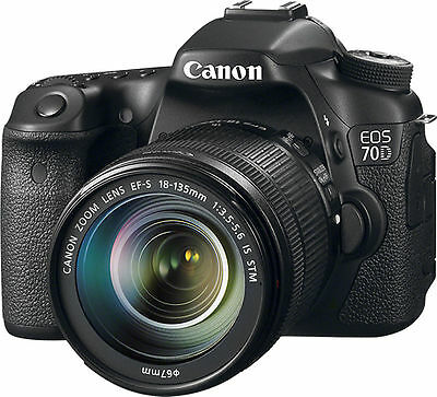 Canon EOS 70D DSLR Camera w/18-135mm STM f/3.5-5.6 Lens