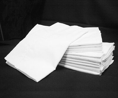 Lot Of 25 New White Hotel Pillow Cases Standard Size Georgia Towels Supreme T180