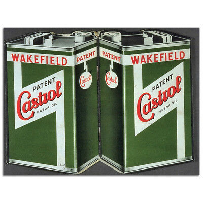 Wakefield Castrol Motor Oil Steel Sign Vintage Garage Decor 16 x 12