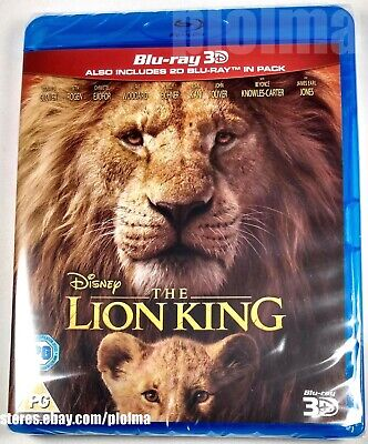 THE LION KING Brand New 3D (and 2D) BLU-RAY Movie 2019 Live-Action Disney Film