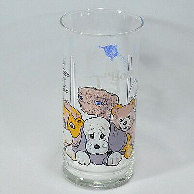 """Vintage 1982 E.T. The Extra Terrestrial """"Home"""" Glass Pizza Hut - Limited Edition"""