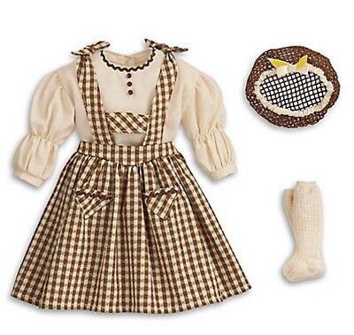 American Girl Addy's Birthday Outfit NIB NRFB Retired Dress Snood Socks