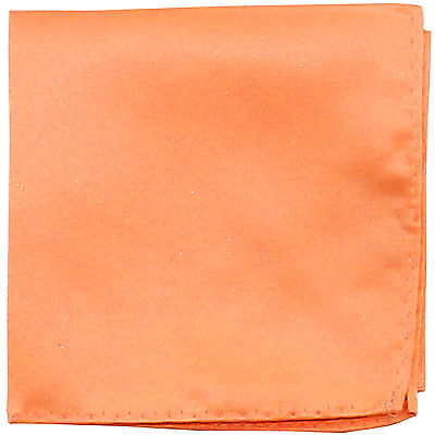 New Men's Polyester pocket square hankie only Peach prom wedding