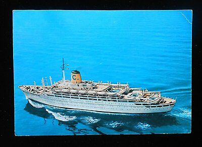 1968 SS Federico C Cruise Ship Costa Line Later SS SeaBreeze Sank in 2000 PC