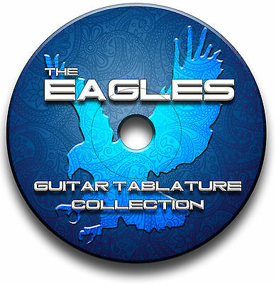 The Eagles Rock Guitar Tabs Tablature Song Book Anthology Software Cd