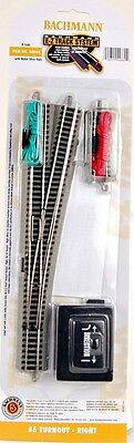 Bachmann N Scale Train Nickel Silver w Gray E-Z Track  #6 Turnout - Right 44860