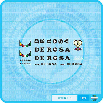 Set 2 Stickers Decals Bicycle Transfers De Rosa