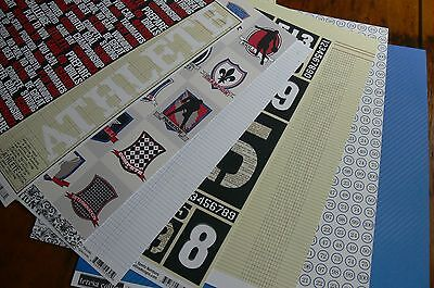 Discount CONTRAST SPORTS Collection Kit 12x12 -8 Dble Sided Pages teresa collins
