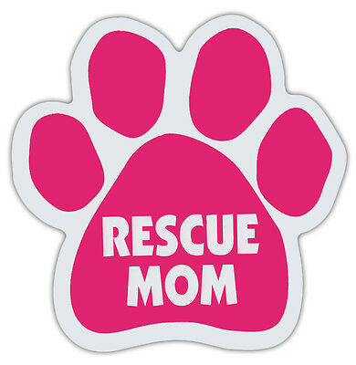 Pink Dog Paw Shaped Magnets: RESCUE MOM   Dogs, Gifts, Cars, Trucks